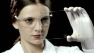 Woman Worker in a Laboratory video