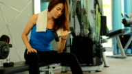 Woman Working Out in the Gym video