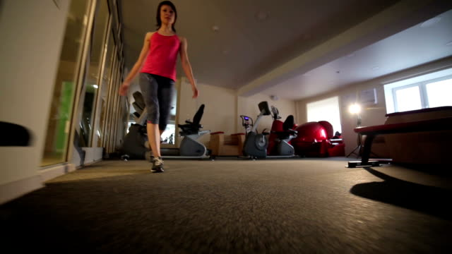 Woman workouts in the gym video