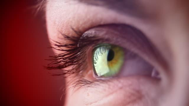 Woman's eye - macro video
