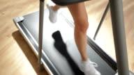 Woman's Legs on Running Treadmill video