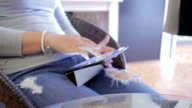 Women are using digital tablet,Dolly Shot video