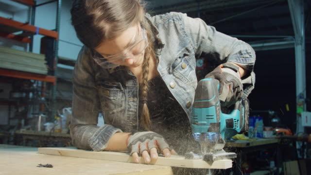 Women at Work in Carpentry Workshop video