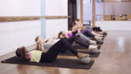 Women doing ab workout in studio video