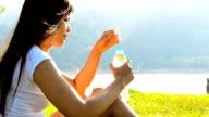 women drinking water video