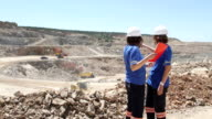women engineers at open mine video