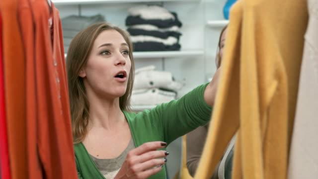 HD: Women Having Fun Shopping In Boutique video
