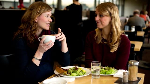 Women in Restaurant video