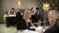 Women manicures video