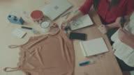 Women new business clothes dressmaker startup video