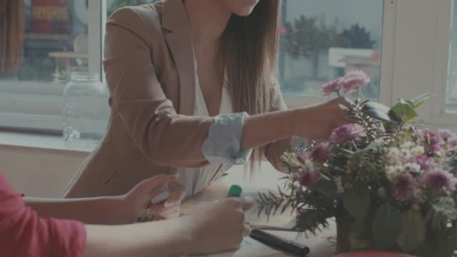 Women new business florist startup video