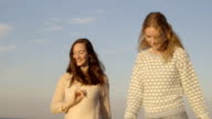 Women on beach video