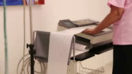 Women on EEG examination in clinic video