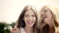 Women on meadow video
