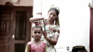 Women preparing child video