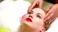 Women Receiving Head Massage video