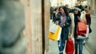 Women shopping at via Condotti in Rome video