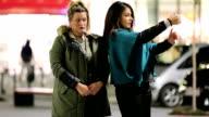 Women taking selfie video