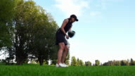 Women tees off video