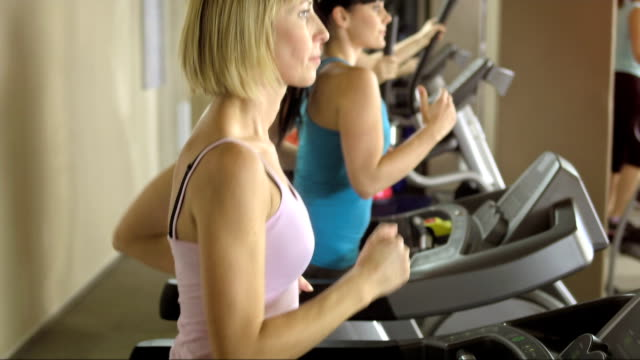 Women Training In The Gym video
