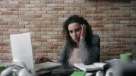 Women under stress in the office video