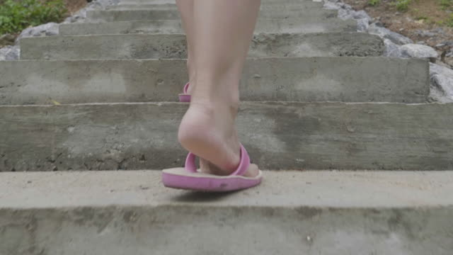 Women Walking Up The Stairs video