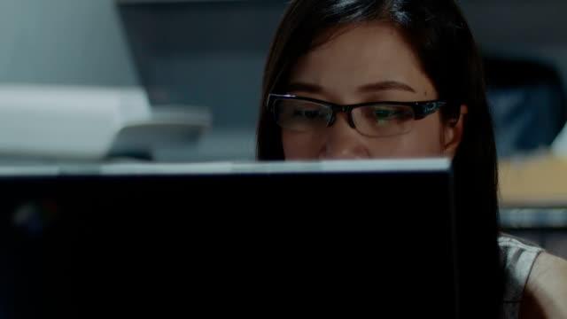Women working on Laptop video