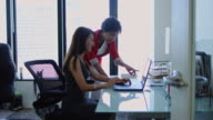 Women Working Together in Modern Office video