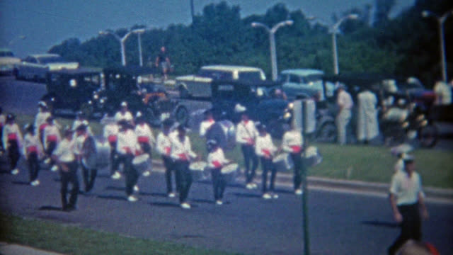 MIAMI, FLORIDA 1963: Women's army corps led 4th of July parade. video
