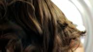Womens hair near the mirror video