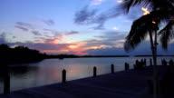 Wonderful dream beach in the evening paradise great sky video