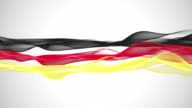 Wonderful german color flag animation for sport events, loop HD video