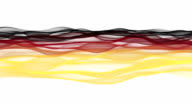 Wonderful German color wave animation for sport events, loop HD video