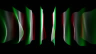 Wonderful italian color wave flag animation for sport events, loop HD video