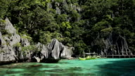 Wonderful lagoon in Palawan, Philippines video