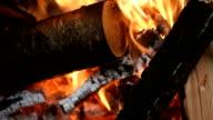 Wood burning fire video
