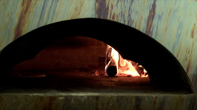Wood burning pizza oven video
