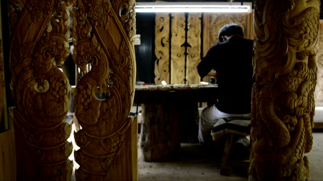 Wood carving video