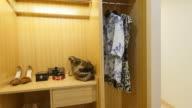 wood closet in modern house video
