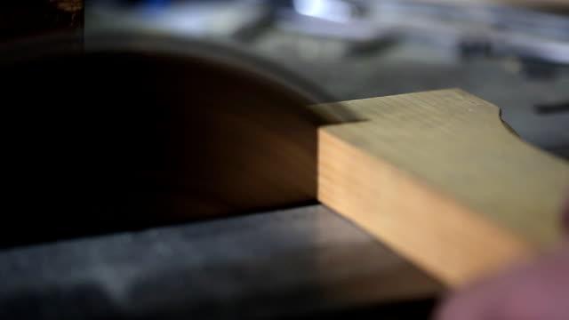 Wood cutting (HD) video
