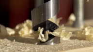 Wood Drill - Slow Motion video