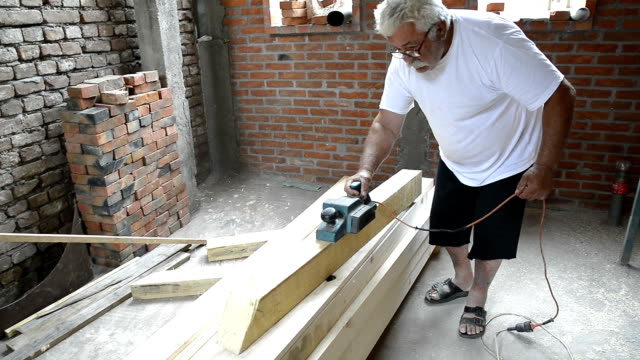 Wood Planing in a workshop. video