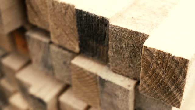 wood stacked neatly on the shelves video