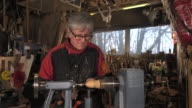 wood turner cutting shapes in wood video