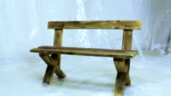 Wooden benches video