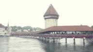 Wooden bridge in Lucerne video