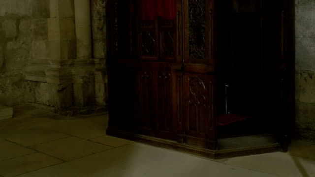 Wooden Church Confessional video