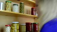 wooden cupboard jars video