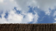 Wooden Fence Cloud Time Lapse video