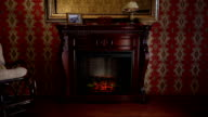 Wooden Fireplace in Conservative Interior video